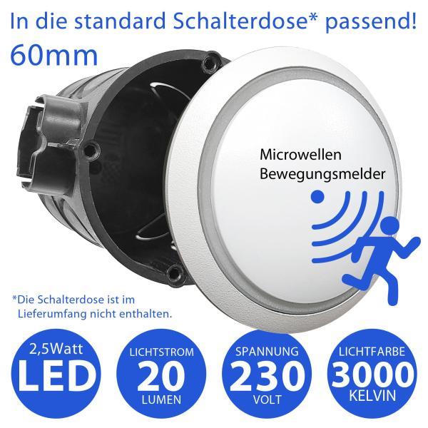 Premium LED Treppenbeleuchtung mit Sensor 6125R1