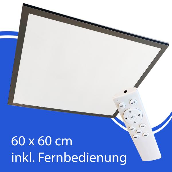 LED Deckenleuchte Panel 60x60 schwarz mit Fernbedienung APL600