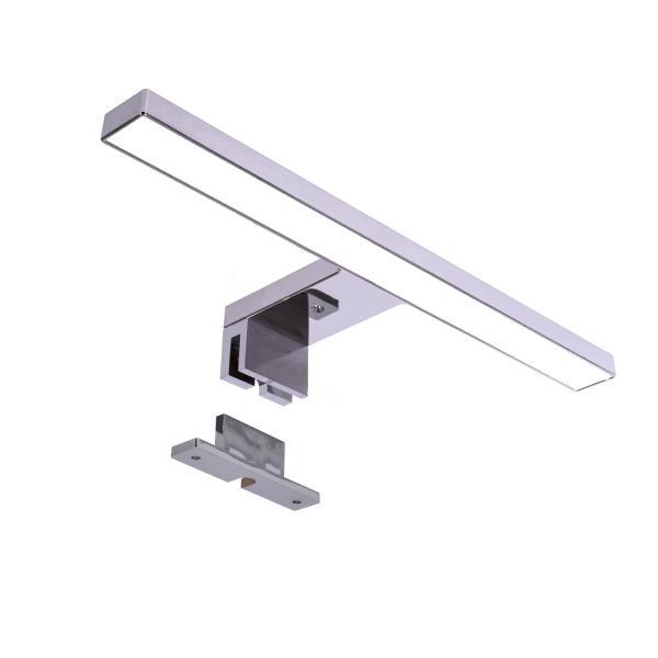 LED Bad Spiegelleuchte Badlampe MK-BAD 30cm chrom eckig