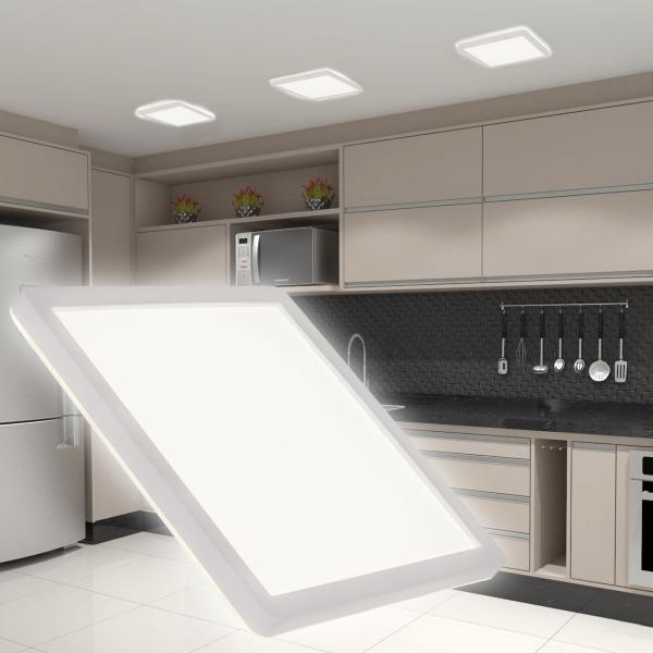 LED Deckenleuchte VIDA-S 15W neutralweiß eckig mit Hintergrundlicht