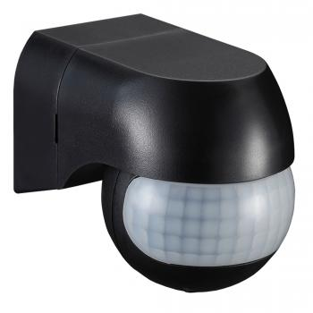 Infrared indoor and outdoor motion detector black B50-SES12BL-A