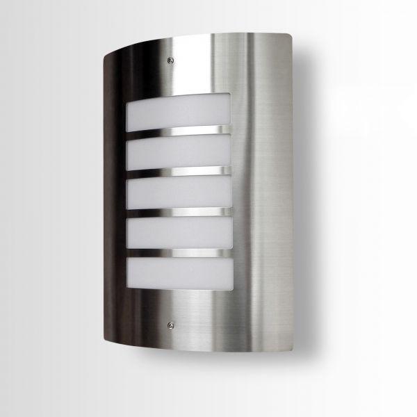 wandleuchte f r au en 115a aus edelstahl mit e27 fassung. Black Bedroom Furniture Sets. Home Design Ideas