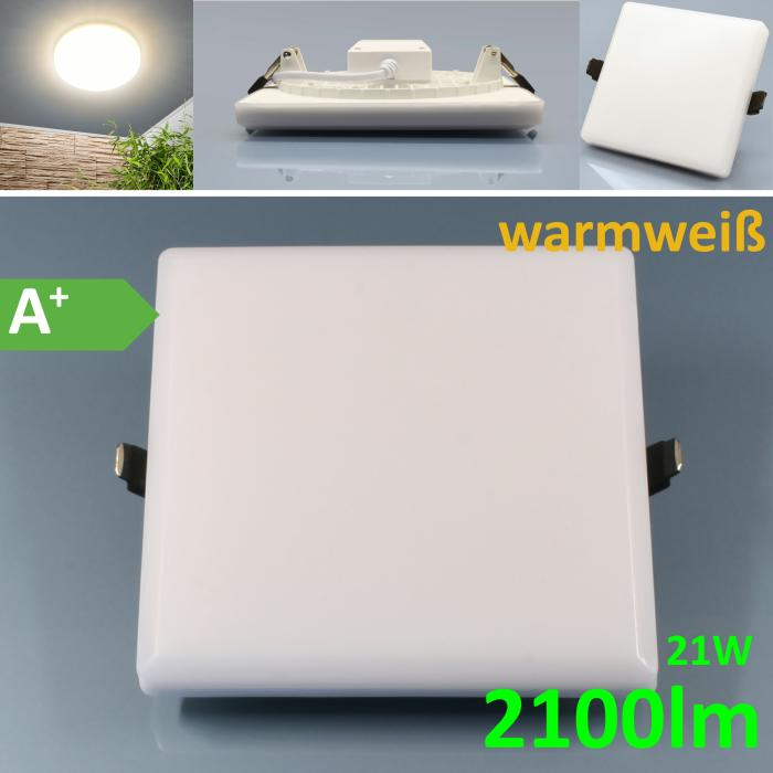 LED-Panel Randlos 21W rund warm 170mmØ