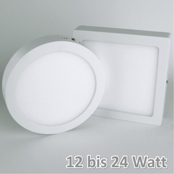 LED-Panel Aufputz 18 Watt warmweiß eckig