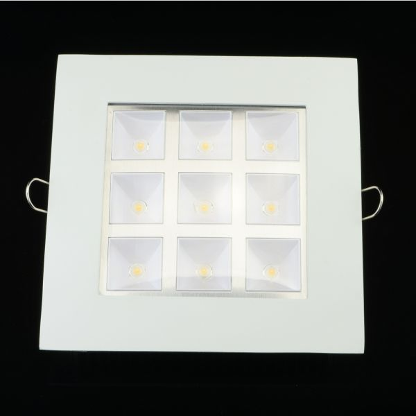 LED- Panel Weiß 9 Watt eckig